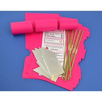 8 Hot Pink Make & Fill Your Own DIY ReyClable Christmas Cracker Craft Kit