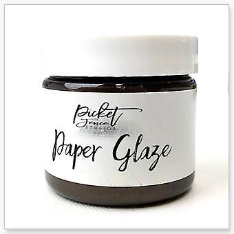 Picket Fence Studios paperi lasite ruskea Dahlia