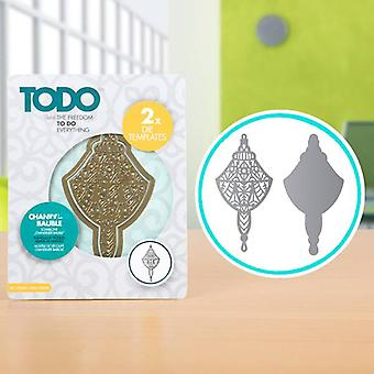 TODO Die Template Set Chandelier Bauble