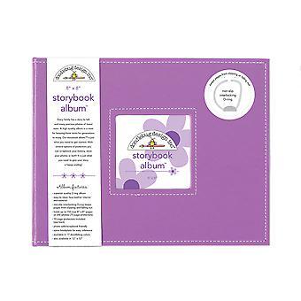 Doodlebug Design Lilac 8x8 Inch Storybook Album