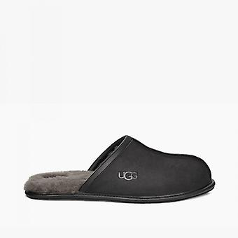 UGG Scuff Mens Leather Mule Slippers Black