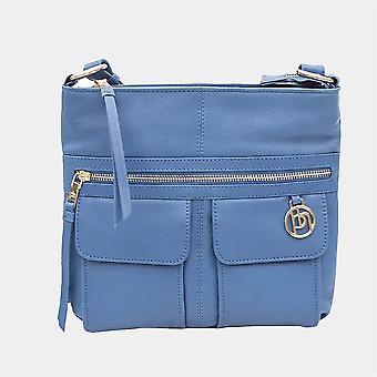 Primehide Womens Leather Crossbody Shoulder Handbag Ladies Day Bag 404
