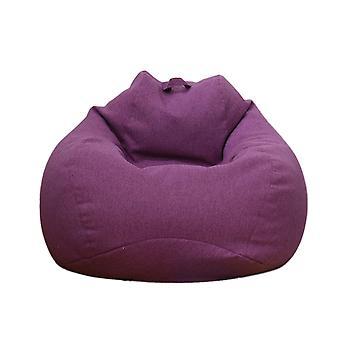 Cotton Lazy Couch Set Sofa Cover Purple 80 x 90 cm
