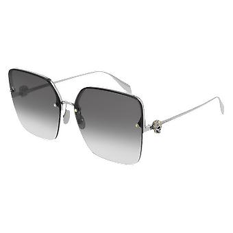 Alexander Mcqueen AM00271S 001 Silver/Grey Gradient Sunglasses