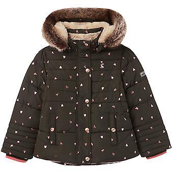 Joules Girls Stella Gewatteerde geïsoleerde capuchon jas jas jas