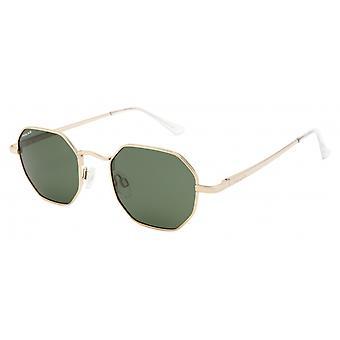 Sonnenbrille Damen  Lee   polarisiertes Gold mit grüner Linse (plee02/G)
