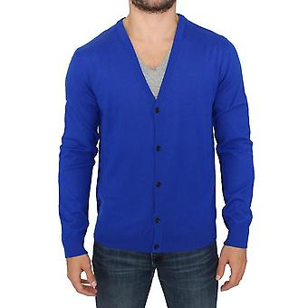 Pull Cardigan en laine bleue Galliano SIG10474-1
