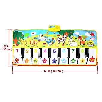 135x58cm Baby Musical Mat Large Size- Animal Theme Educational Learning Toy Infant Playing Type Music Gift (1 Pcs)