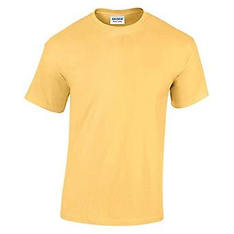 Gildan G5000 Plain Heavy Cotton T Shirt in Yellow Haze