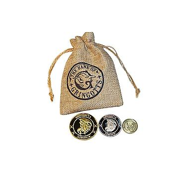 Galleons London Knut, Gold Coin Bag Toy- Cartoon Harri Magic World Cosplay