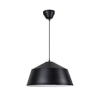 Forlight Bowl - Dome plafondhanger Mat Zwart Wit 1x E27 40cm