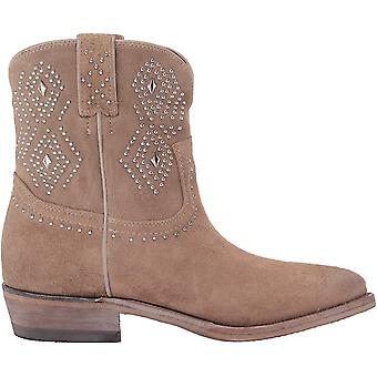 Frye Womens Billy Suede Pointed Toe Ankle Cowboy Boots