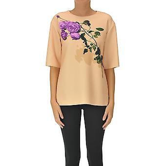 Dries Van Noten Ezgl093194 Women's Pink Polyester Top