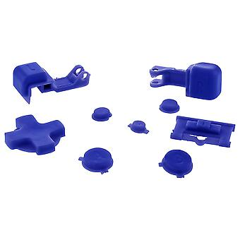 Zedlabz replacement button set for nintendo game boy advance sp gba handheld - blue