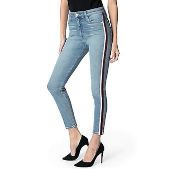 Joe's | Charlie Velvet-Trim Ankle Skinny Jeans