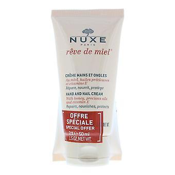 Nuxe Hand- und Nagelcreme mit Honig, edelölen und Vitamin E - 2 x 50ml