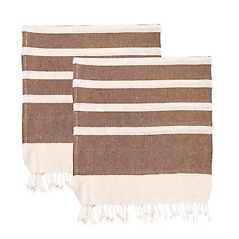 Nicola Spring 100% Turkish Cotton Towel Set | Beach Bath Gym Sauna - Mocha - Pack of 2
