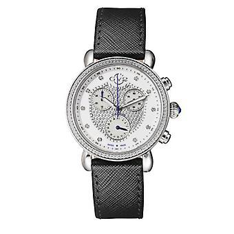 GV2-kehittäjä: Gevril 9880L Womens Marsala Chronograph SwissQuartz Diamond Leather Watch