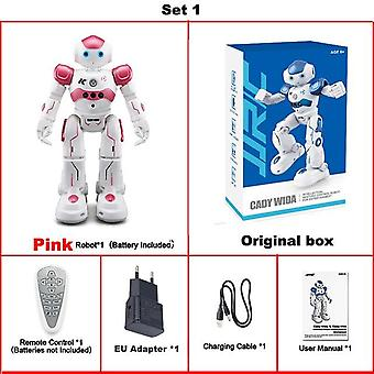 Chargeing Singing Dancing Gesture Control Rc Robot Toy Blue Pink Presents