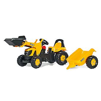Rolly kid JCB tractor loader + trailer with frontloader  & trailer for 2.5-5