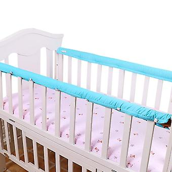 2 Pcs/set Plain Color Crib Bumper Thickened Baby Bedside Protective Bar-