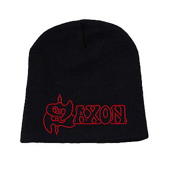 Saxon Beanie Hat Cap Classic band Logo Official New Black