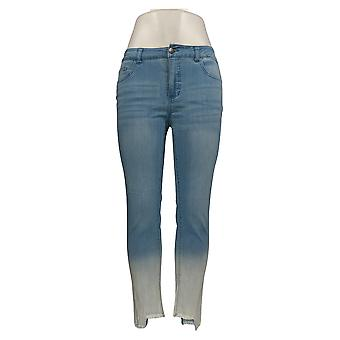 Mujeres con Control Mujeres's Jeans My Wonder Ombre Frayed Hem Azul A353125
