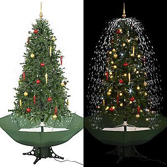 雨の足緑190センチの雪のクリスマスツリー