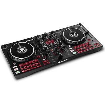 Numark mixtrack pro fx – 2 deck dj controller for serato dj with dj mixer, built-in audio interface, capacitive touch jog whe ps38535