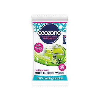 Ecozone Anti Bacterial Multi Surface Wipes x 40 WIP1