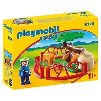 Playmobil 1.2.3 Lion Enclosure med Cave