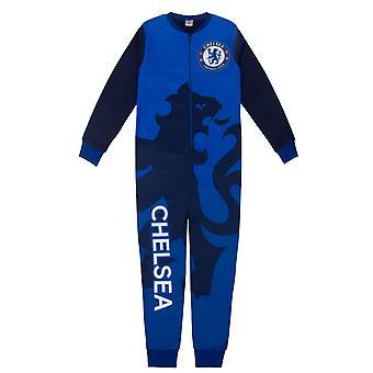 Chelsea FC Boys Pyjama All-In-One Sleepwear Kids OFFICIAL Football Gift