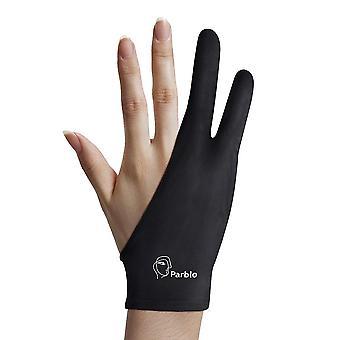 Parblo pr-01 kahden sormen käsine grafiikkaan piirustus tablet valolaatikko jäljitys valotyyny 8x3.46 tuumaa