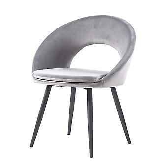 Velvet Pink Restaurant Kitchen Black Legs Dining Chairs
