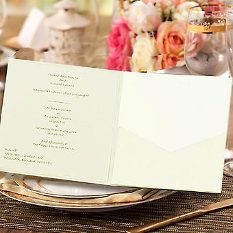 10 FAIDA Square Quarzo Pocketfold Convite NO Flap.