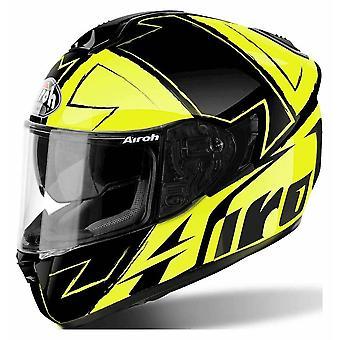Airoh ST701 Full Face Motorradhelm Schwarz gelb ACU zugelassen Sun Visier