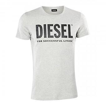 Diesel T-DIEGO-LOGO Classic Logo Printed T-Shirt Grey
