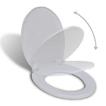 Wc-bril met automatische absthenotatie Oval White