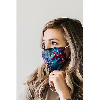 Masque floral de visage de satin