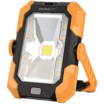 RUNACC Solar Camping Light Portable Work Light Rechargeable LED