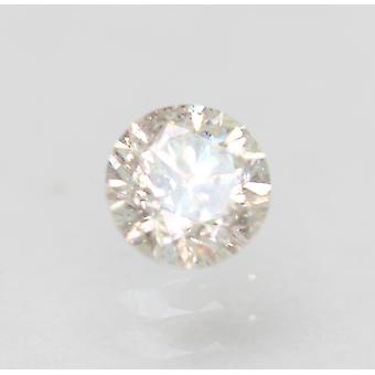Certified 0.31 Carat I SI2 Round Brilliant Enhanced Natural Loose Diamond 4.15mm