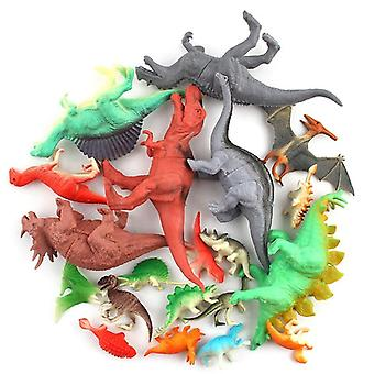 12pcs/set Mini Animals Simulation Toy Jurassic Play Dinosaur (12pcs)