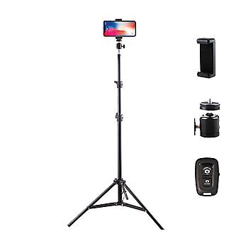 "Phone Tripod,63"" Selfie Stick Tripod, With Wireless Remote Shutter"