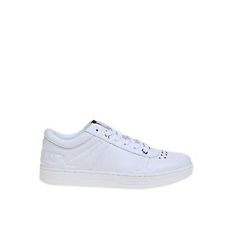 Jimmy Choo Hawaiimtcowhite Men's White Leather Sneakers