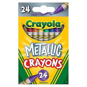 Crayola Crayones Metálicos, 24 Colores