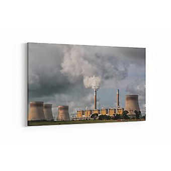 Malerei - Kernkraftwerk - 100x70cm
