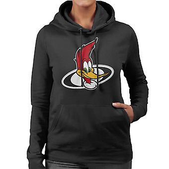 Woody Woodpecker Character Head Women's Hooded Sweatshirt