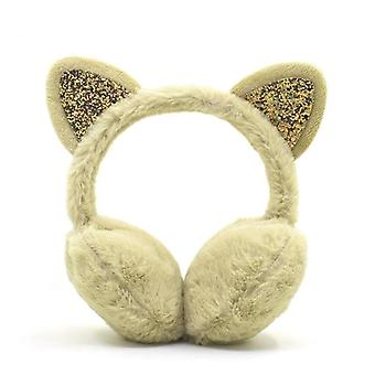 Söpö kissa, korvan muffs lämmittimet & naiset