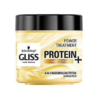 Mascarilla nutritiva del cabello Gliss Protein Schwarzkopf Cabello seco (400 ml)