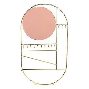 Lustro ścienne Dekodonia Ze wsparciem Metal (28 x 2 x 50 cm)